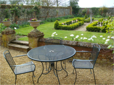 Knot garden with tables