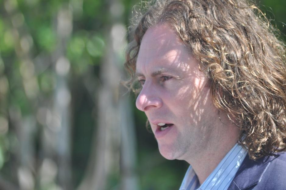 Tim Austen in 'Giardino della Mostra'