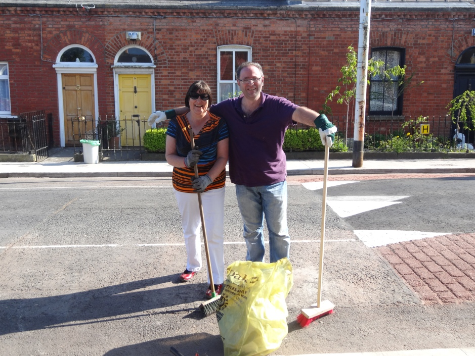 Giuseppe with Irene, who has been the driving force behind the clean-up