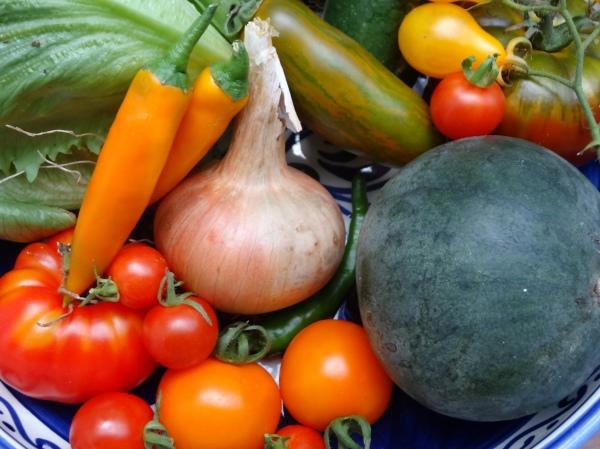 Produce from WALK Community Garden