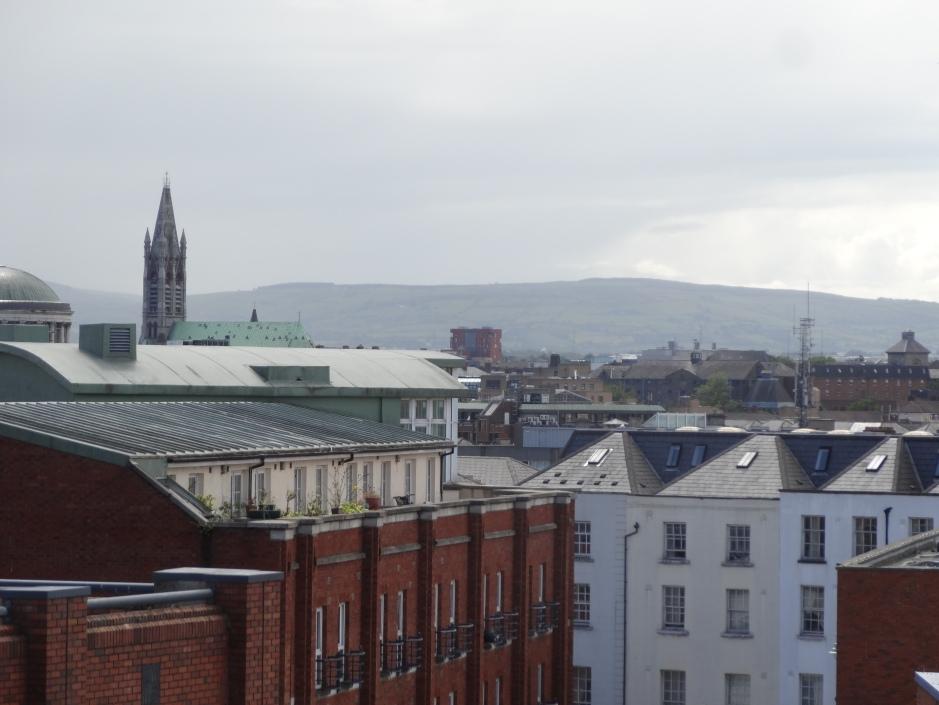 View across Dublin from the Urban Farm