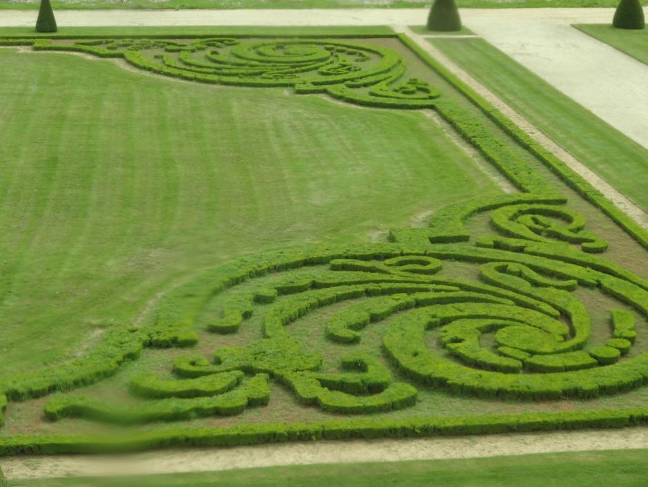 French gardens Vaux le Vicomte