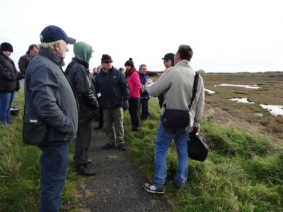 Robert Moss pointing out the birdlife