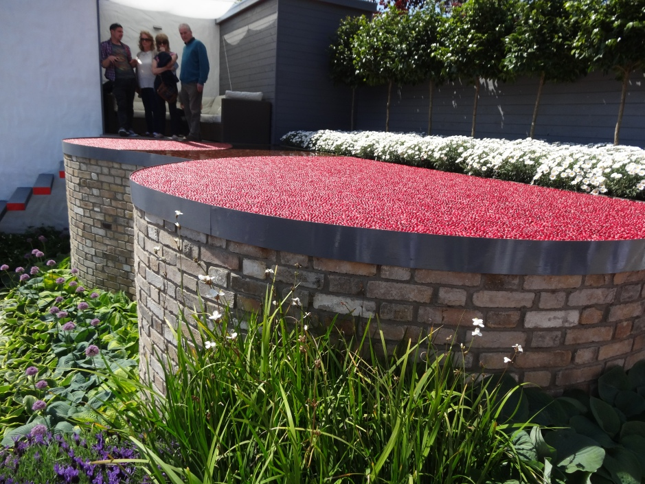 Cranberries used as a feature in a Show Garden, Bloom in the Park