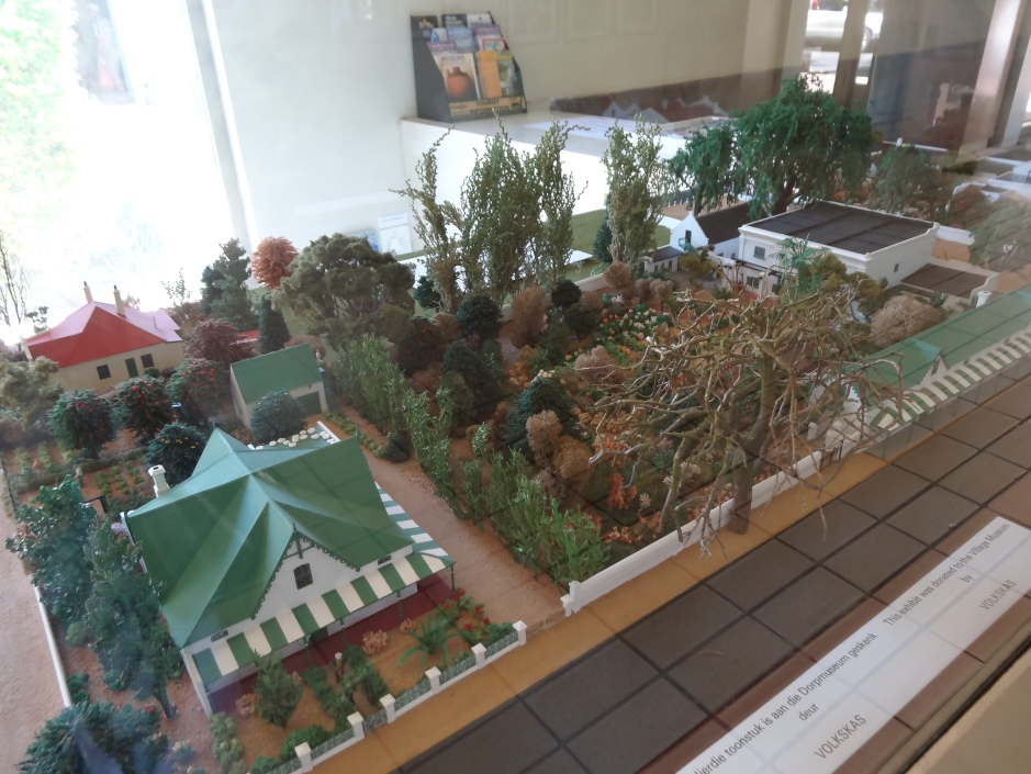 Model of the houses on the Trail