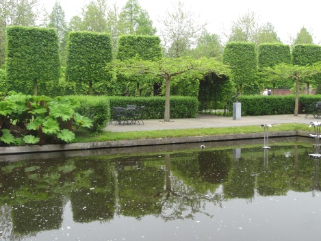 The enclosed historic garden outlining Holland's 400 years of tulip cultivation