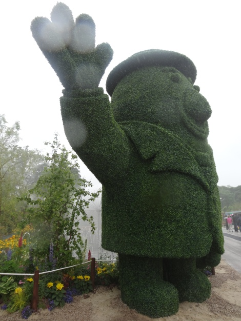 "and a 17ft high topiary ""Mr Tayto"""