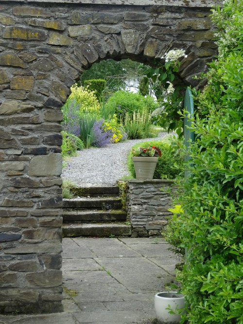 The view through to Wendy's garden, Burtown House.