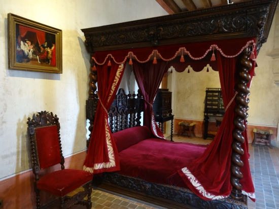 Leonardo da Vinci's bedroom where he died in 1519.