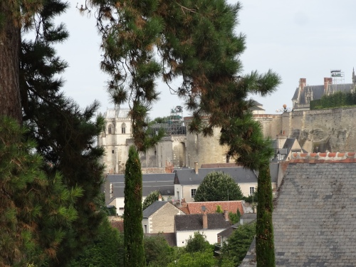 The view from da Vinci's bedroom of the Chateau d'Amboise and the Church of St Hubert, where he was buried