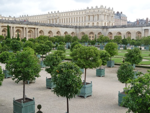 The Palace of Versailles seen from the Orangery.