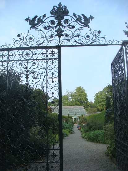 The entrance to Farmleigh's walled garden