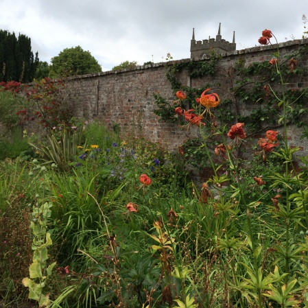 The lovely walled garden at Beaulieu