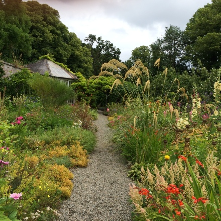 The herbaceous border at Beaulieu House.