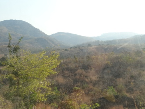 Up and down hills on the way to Lake Malawi.