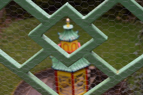 The view of the pagoda from the Chinoiserie bridge
