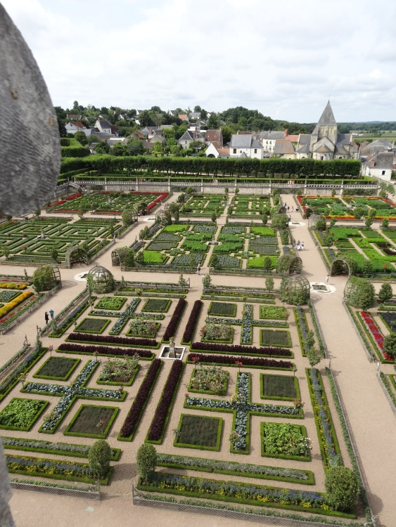 The Kitchen Garden seen from the roof of the Château.