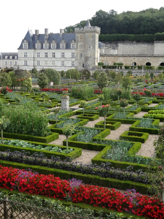 Chateau de Villandry seen from the extraordinary kitchen garden