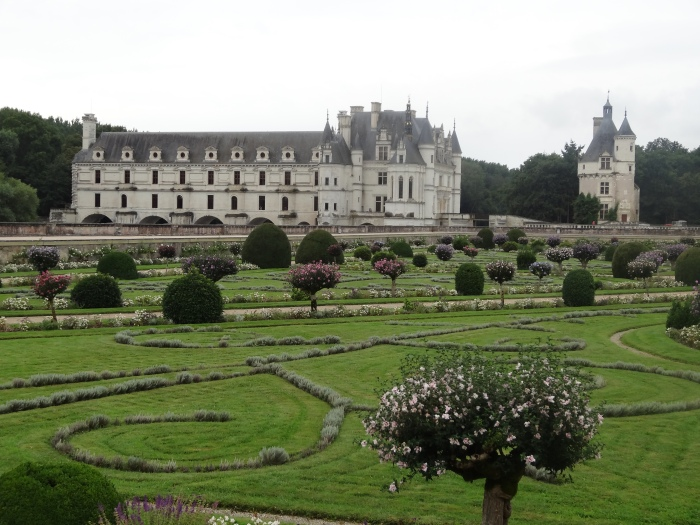 Chateau de Chenonceau seen from the Renaissance garden.