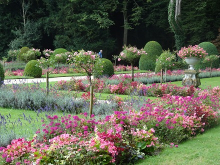 The beautiful gardens at Chenonceau