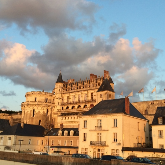 Amboise at sunset.