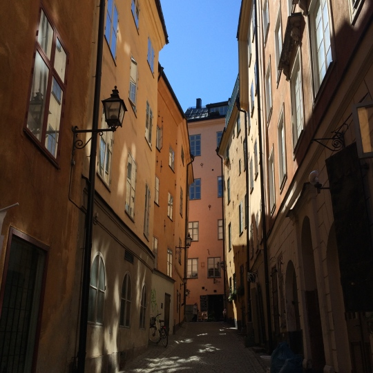 The narrow streets of the mediæval Old Town, Gamla Stan.