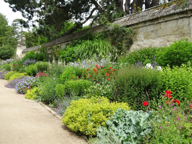 Classic Herbaceous border at Oxford Botanic Garden.