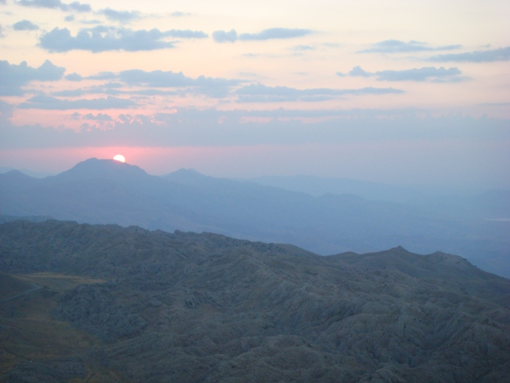 Sunrise on the Taurus mountains